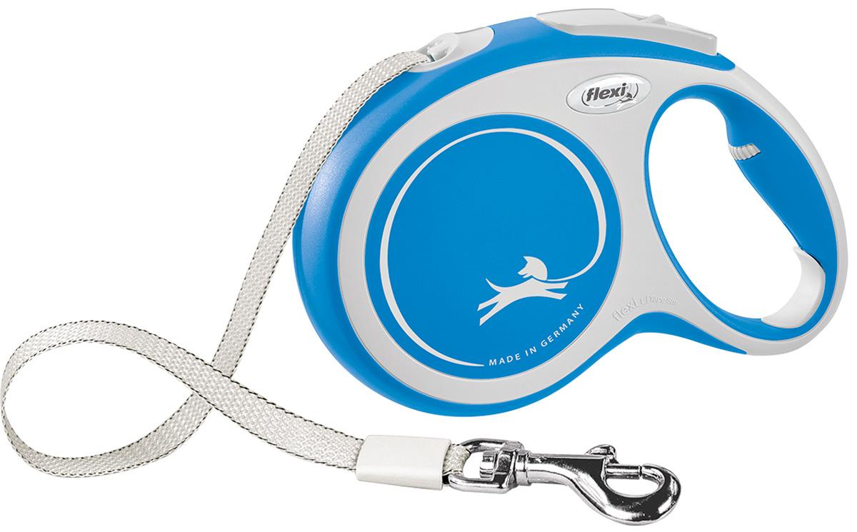 Фото - Flexi New Comfort Tape ременной поводок рулетка для животных 8 м размер L синий (1 шт) flexi new comfort tape ременной поводок рулетка для животных 5 м размер s синий 1 шт
