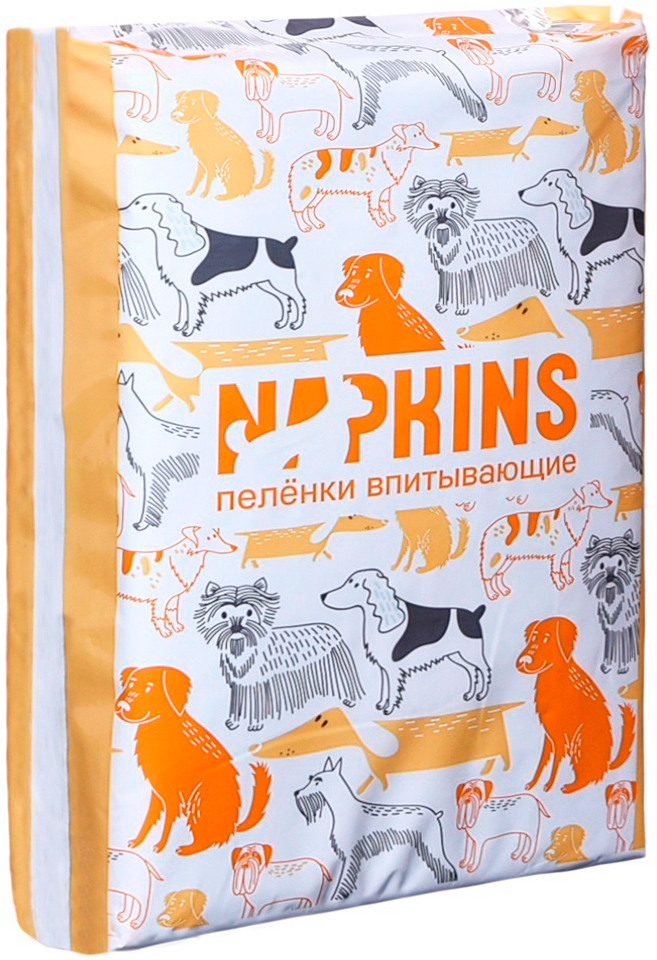 Napkins пеленки впитывающие для животных 60 х 40 см (10 шт)