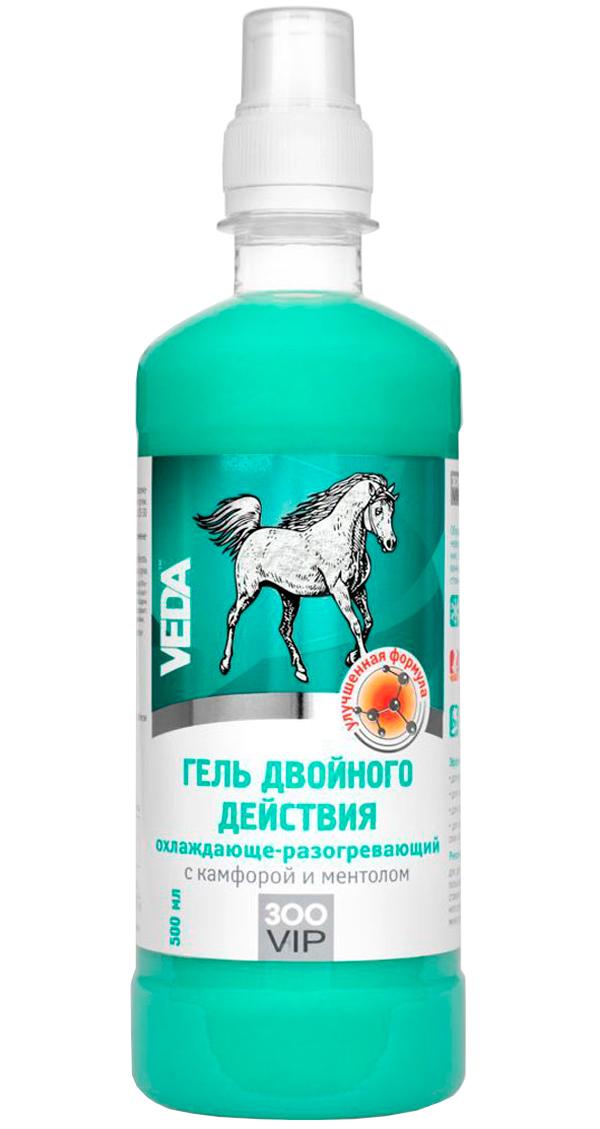 ZooVip гель для лошадей двойного действия охлаждающе-разогревающий с камфорой и ментолом Veda (500 мл).