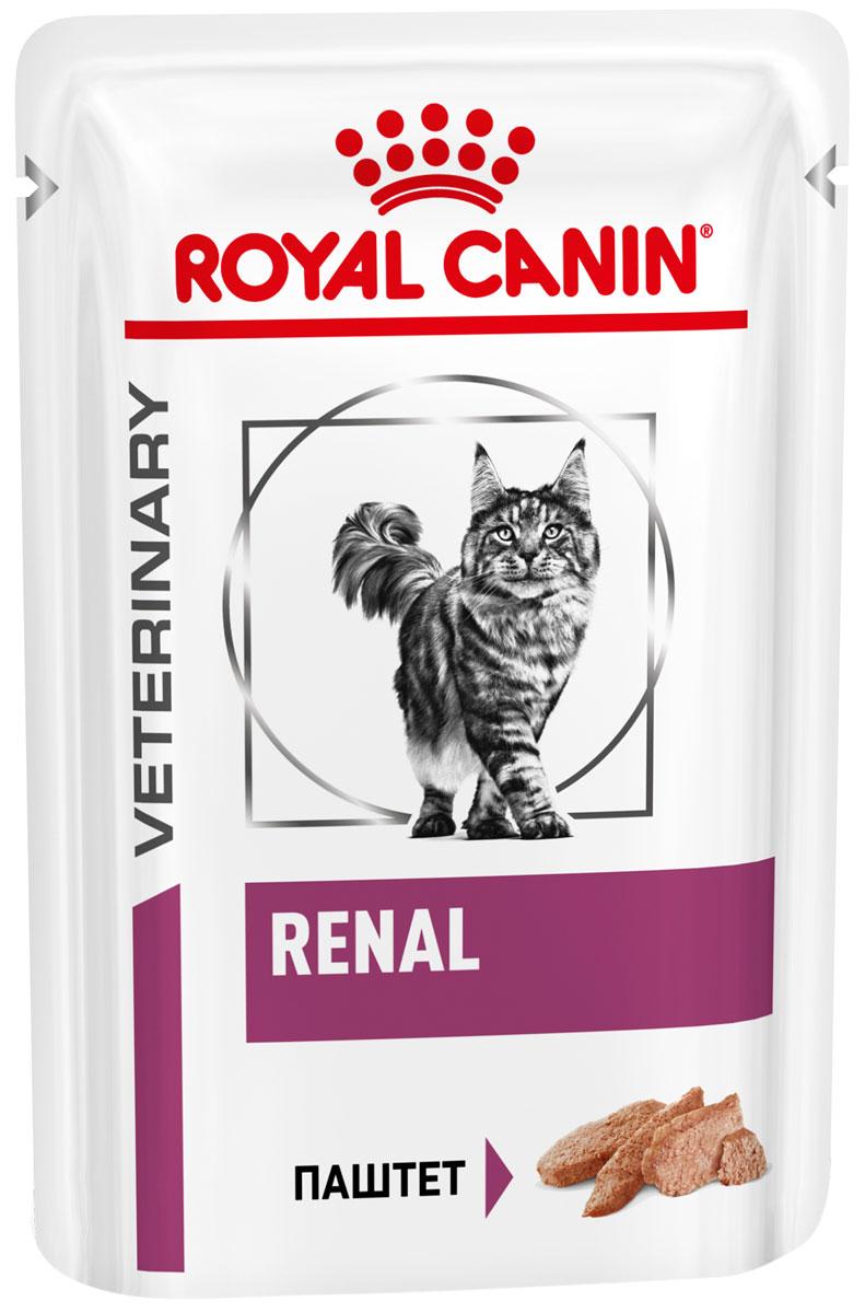 Royal Canin Renal Feline для взрослых кошек при хронической почечной недостаточности паштет 85 гр (85 гр х 12 шт)