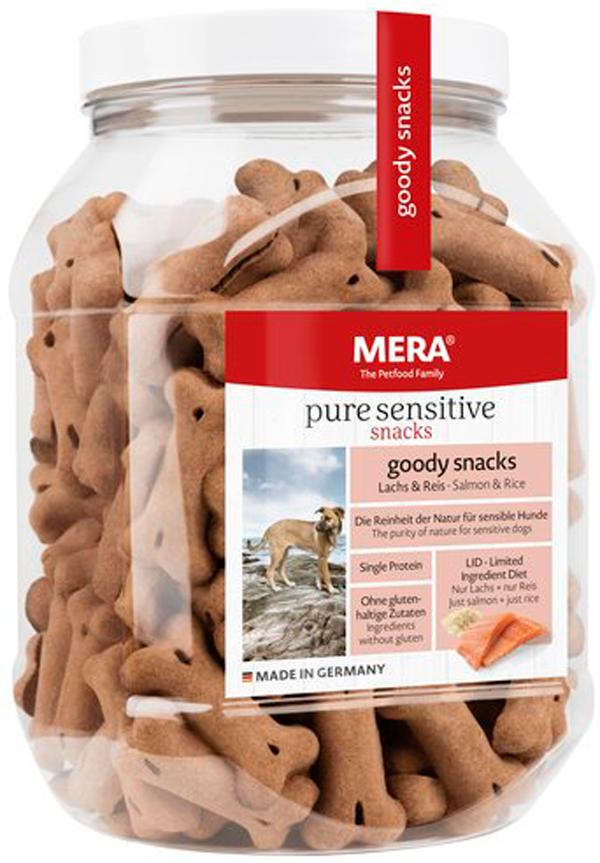 Лакомство Mera Pure Sensitive Goody Snacs Lachs & Reiseis для собак с чувствительным пищеварением снеки с лососем и рисом 600 гр (1 шт)