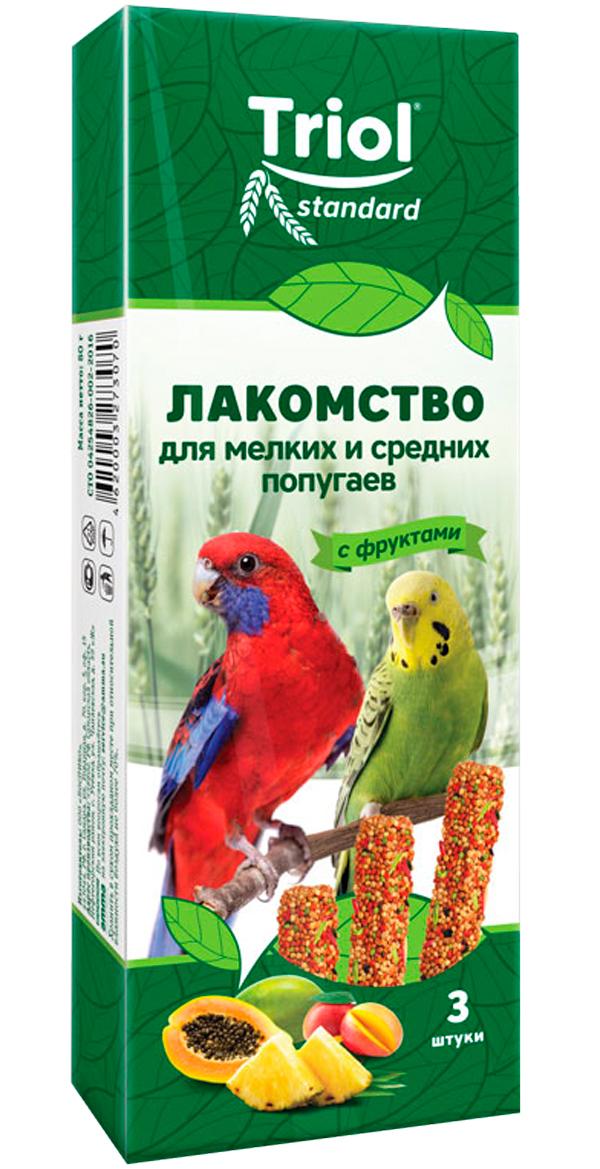 Triol Standard лакомство для мелких и средних попугаев с фруктами (3 шт)