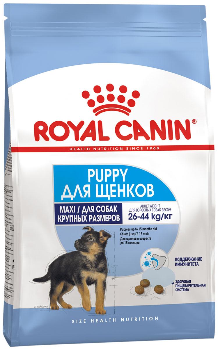 Royal Canin Maxi Puppy для щенков крупных пород (15 кг + 3 кг)