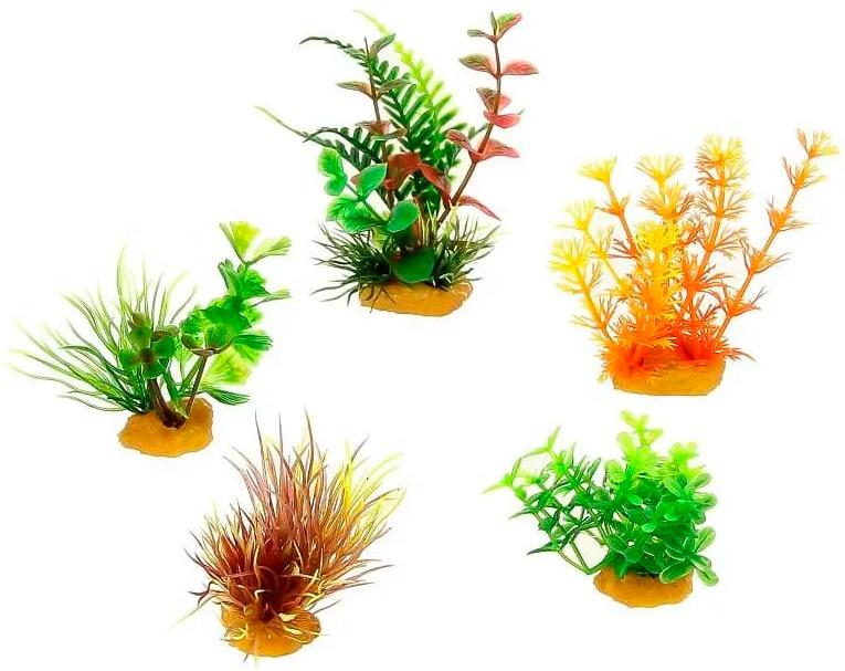 Набор пластиковых растений для аквариума Prime Pr-70601 уп. 5 шт (1 уп) 0 pr на 100