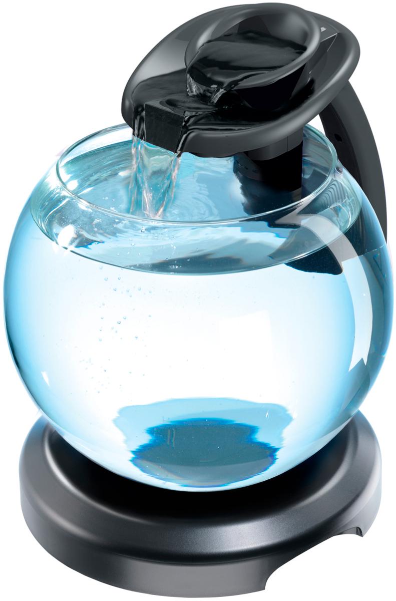 Фото - Аквариум Tetra Cascade Globe Duo Waterfall круглый с Led светильником, цвет черный, 6,8 литра (1 шт) tetra easy crystal filter pack c 100 набор сменных картриджей для аквариума tetra cascade globe 1 шт