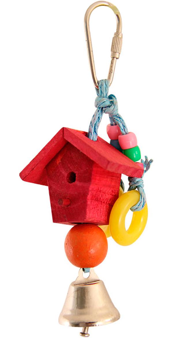 Игрушка для птиц Triol Скворечник 17,5 х 5 см (1 шт) игрушка для птиц triol br43 ромашки 19 см