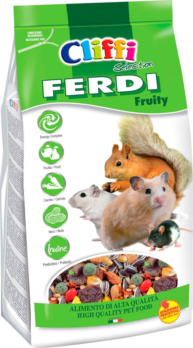 Cliffi Ferdi Fruity корм для хомяков, мышей, белок и песчанок с фруктами, грецкими орехами и морковью (700 гр) мюсли axa медовые с фруктами и орехами 250 гр