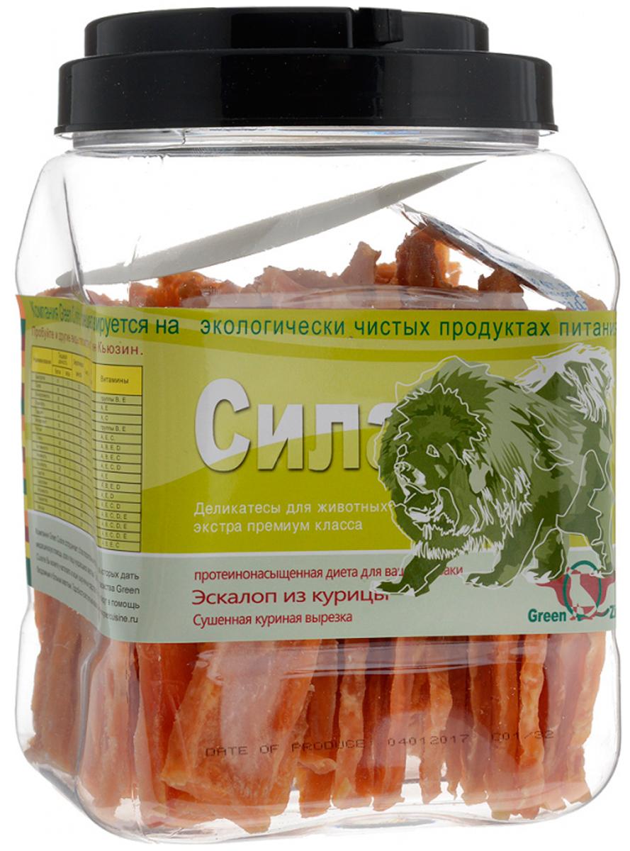 Лакомство Green Qzin Сила для собак всех пород куриная вырезка сушеная 750 гр (1 шт)