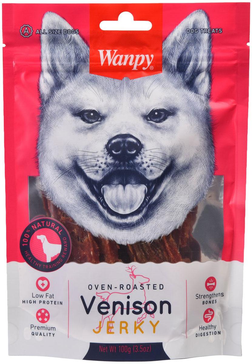 Лакомство Wanpy Dog для собак филе оленины (100 гр)