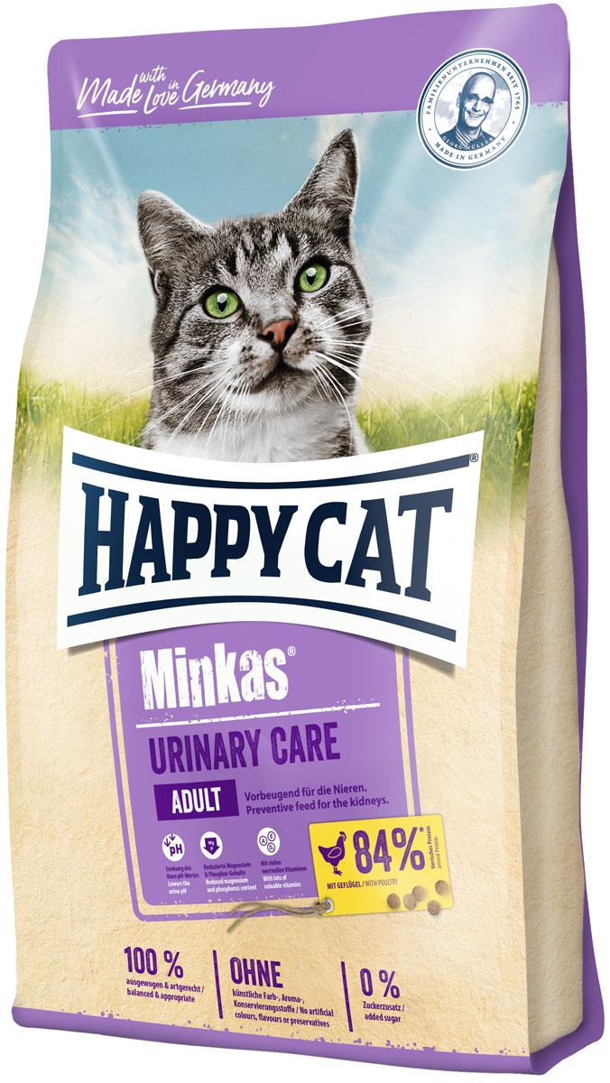 Happy Cat Minkas Urinary Care для взрослых кошек при мочекаменной болезни с птицей (1,5 кг) фото