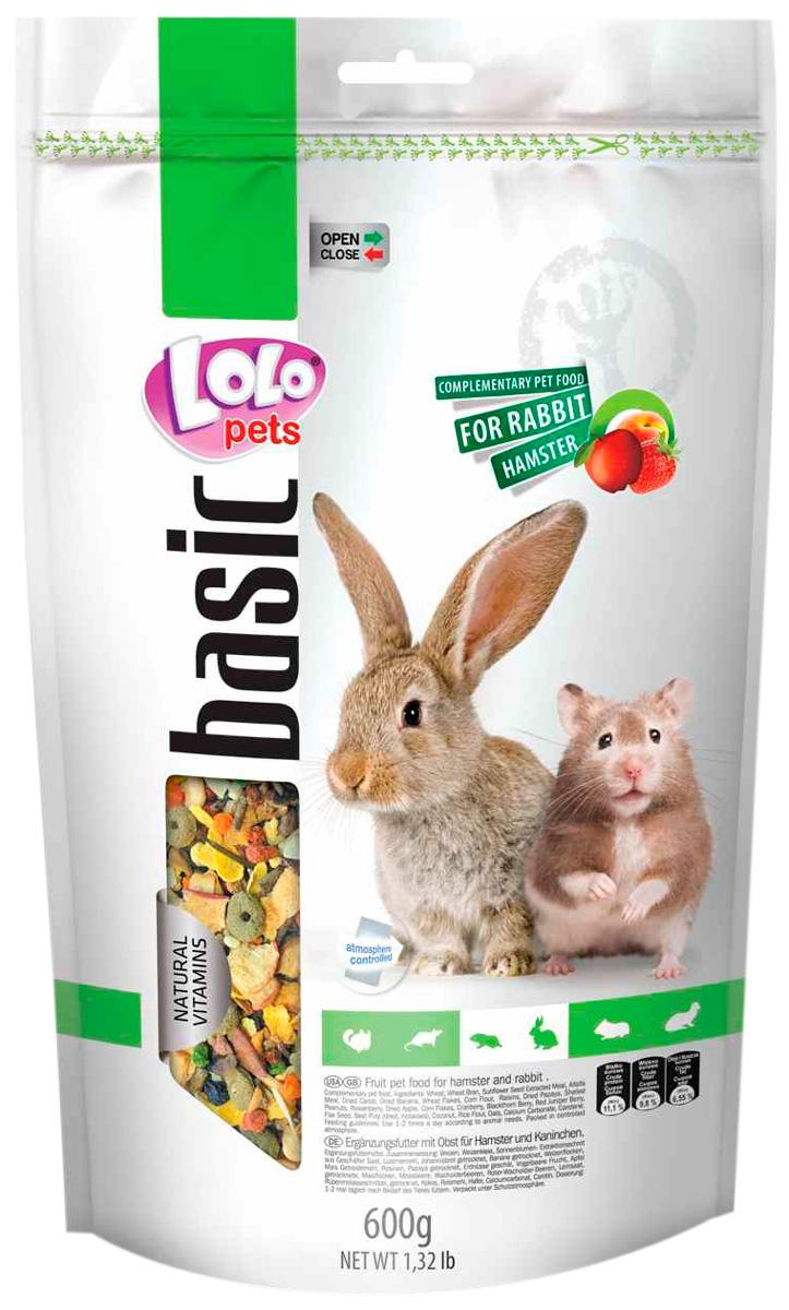 Lolo Pets Basic корм для хомяков и кроликов фруктовый (600 гр)