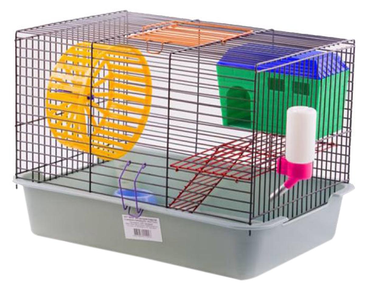 Клетка для грызунов Вака двухъярусная с домиком