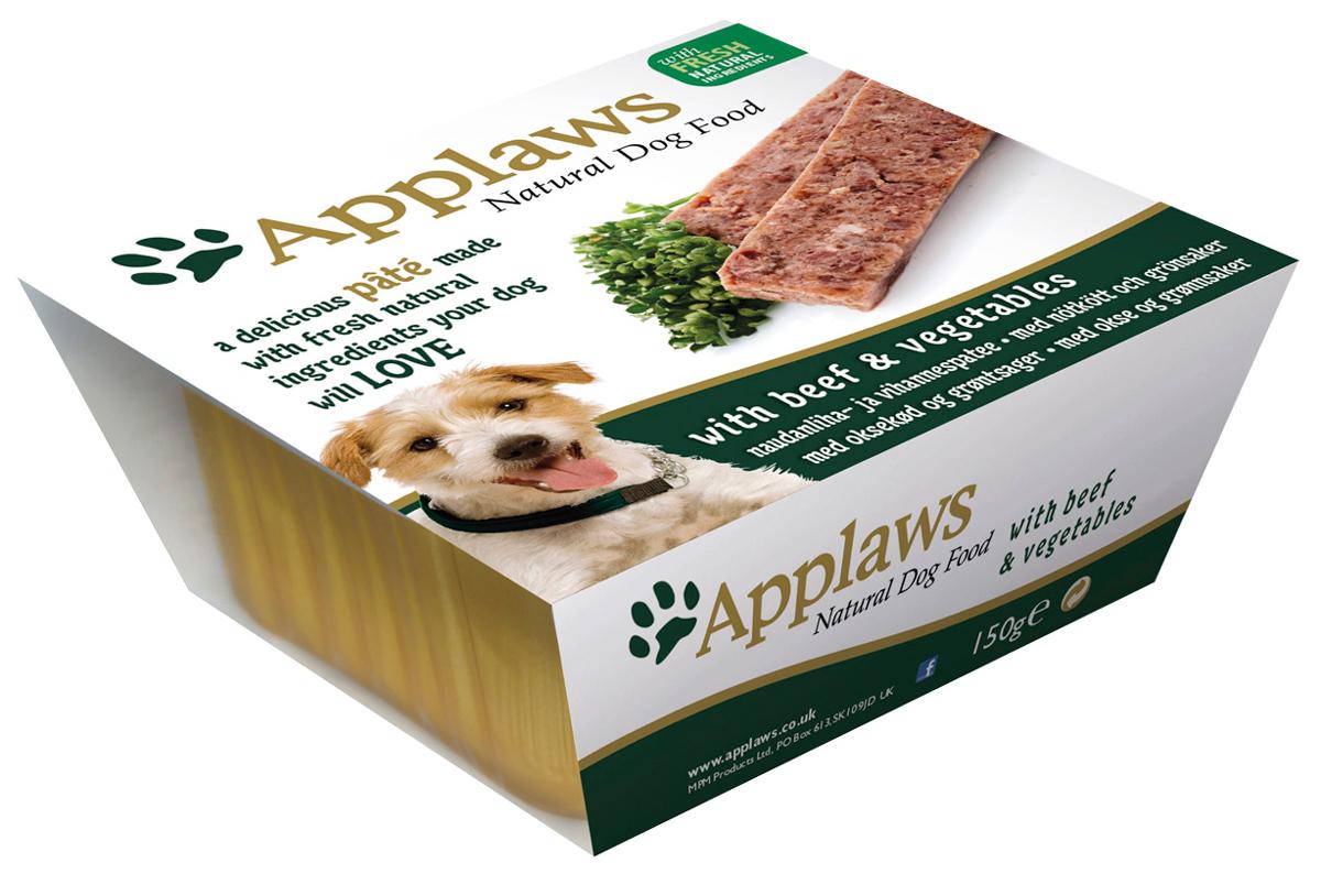 Applaws для взрослых собак паштет с говядиной и овощами 150 гр (150 гр х 7 шт) фото