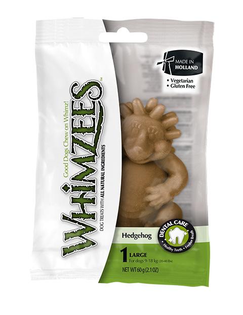 Лакомство Whimzees зубочистки для взрослых собак крупных пород Ежик L 1 шт х 8 см (1 шт)