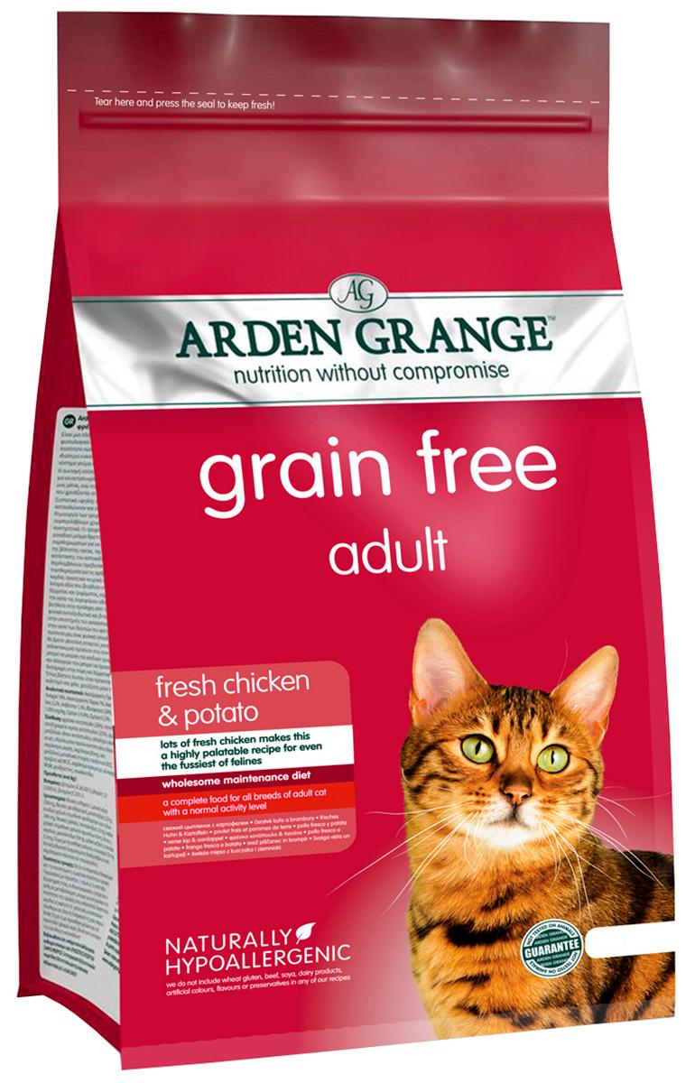 Arden Grange Adult Chicken  Potato беззерновой для взрослых кошек с курицей и картофелем (2 кг).