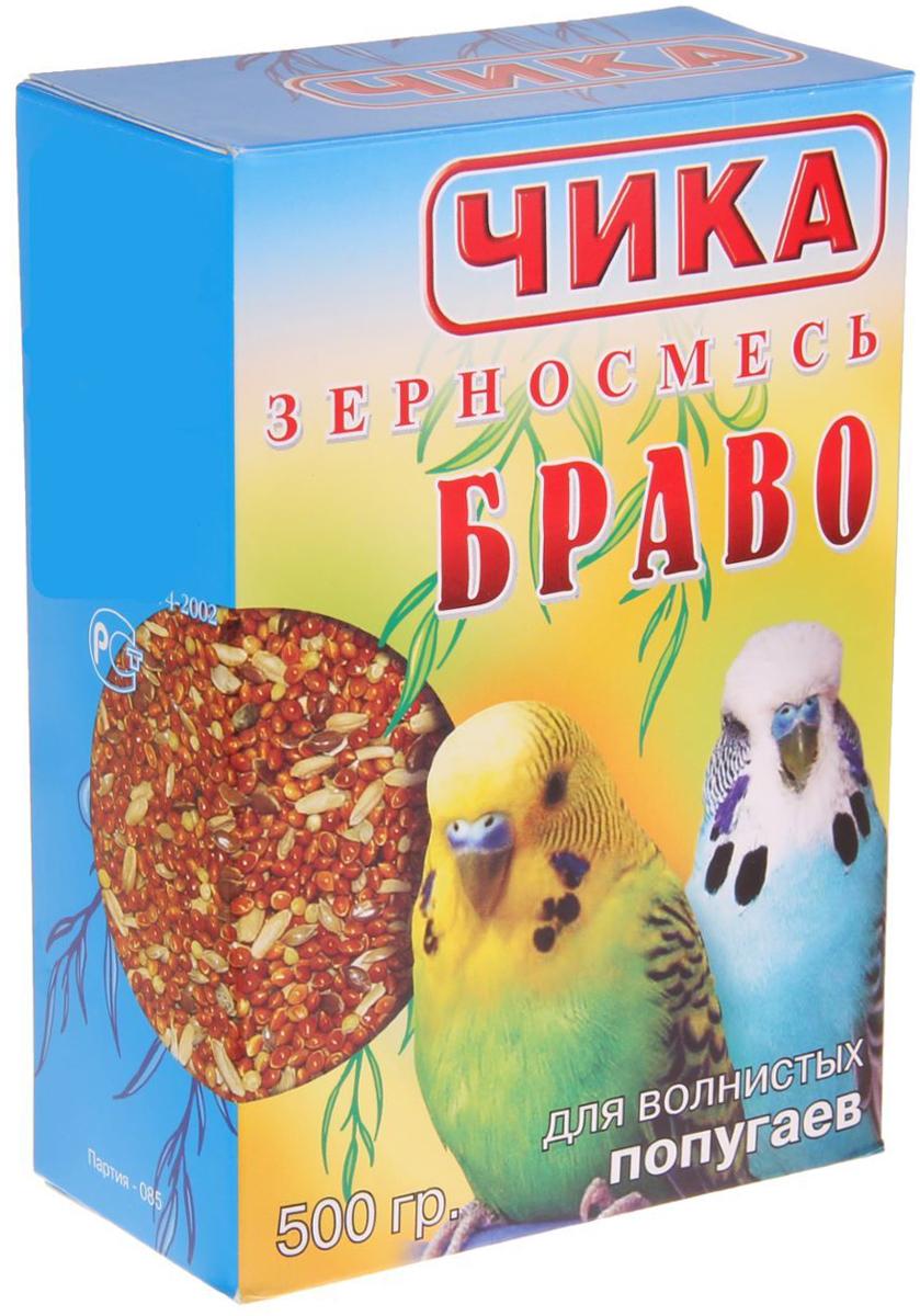 чика браво корм для волнистых попугаев (500 гр).