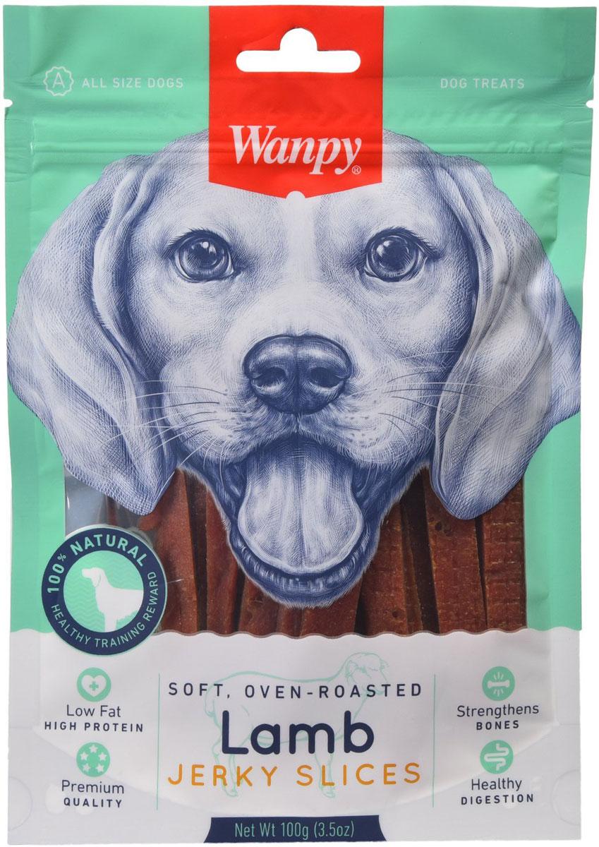 Лакомство Wanpy Dog для собак соломка из мяса ягненка (100 гр)