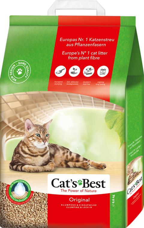 Фото - Cat's Besт Original - Кэтс Бэст наполнитель древесно-комкующийся для туалета кошек (5 л) комкующийся наполнитель цап царап антимикробный 5 л