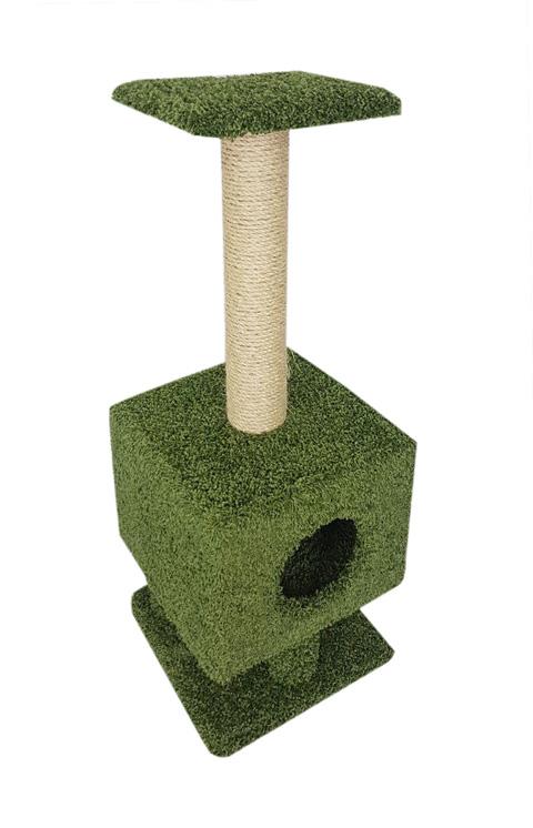 Домик Квадратный на ножках Пушок ковролин зеленый (1 шт)