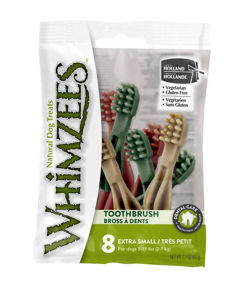 Лакомство Whimzees зубочистки для взрослых собак маленьких пород Зубная щетка Xs 8 шт х 7 см (1 шт)