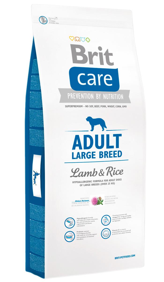 Brit Care Adult Large Breed Lamb & Rice для взрослых собак крупных пород с ягненком и рисом (12 + 2 кг)