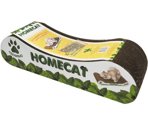 Homecat Mini когтеточка для котят картонная Мятная волна 8 х 12 х 9 см (1 шт)
