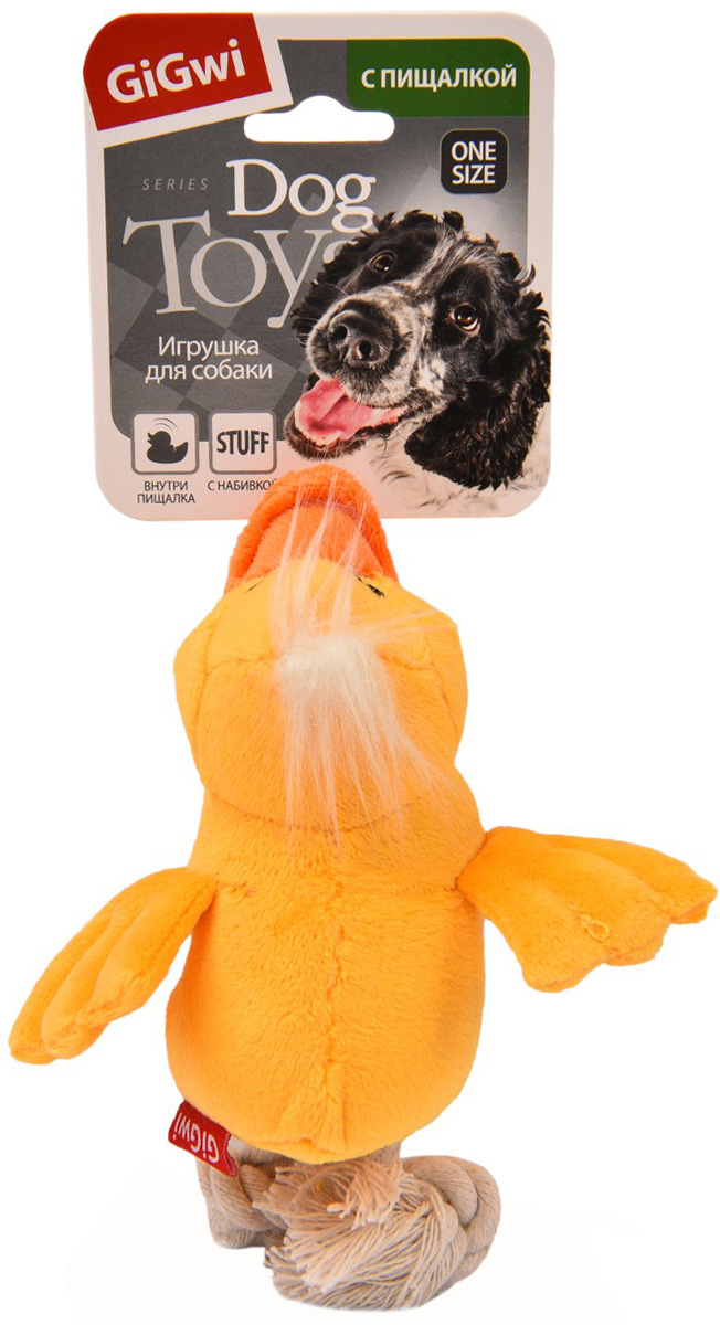 Игрушка для собак GiGwi Утка с пищалкой 15 см (1 шт)