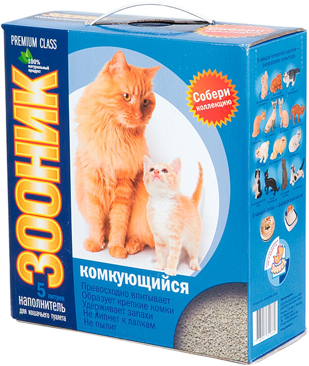 Зооник люкс комкующийся - наполнитель комкующийся для туалета кошек (5 л) фото