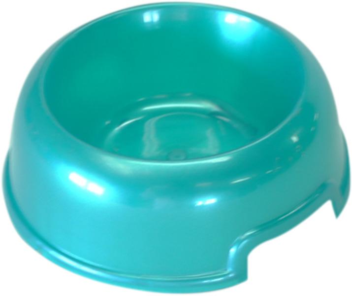 Миска для собак и кошек Homepet бирюзовый перламутр 02 л (1 шт).
