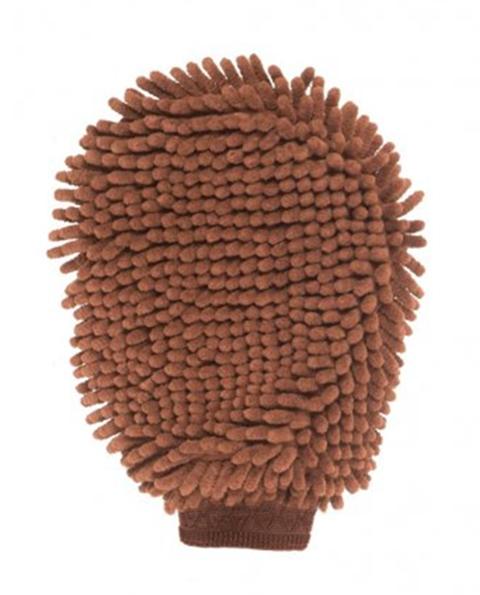 Перчатка для груминга Grooming Mitt коричневая 25 х 18 см Dog Gone Smart (1 шт)