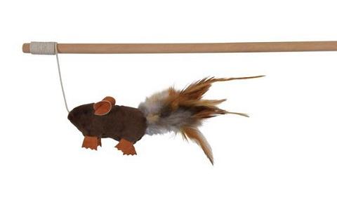 Trixie игрушка «Удочка с мышкой», 50 см (1 шт) trixie trixie удочка дразнилка с мышкой для кошек пластик мех 50 см