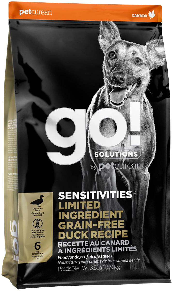 Go! Solutions Sensitivities беззерновой для собак и щенков всех пород с чувствительным пищеварением с уткой (1,59 кг) go solutions sensitivities беззерновой для собак и щенков всех пород с чувствительным пищеварением с ягненком 2 72 2 72 кг