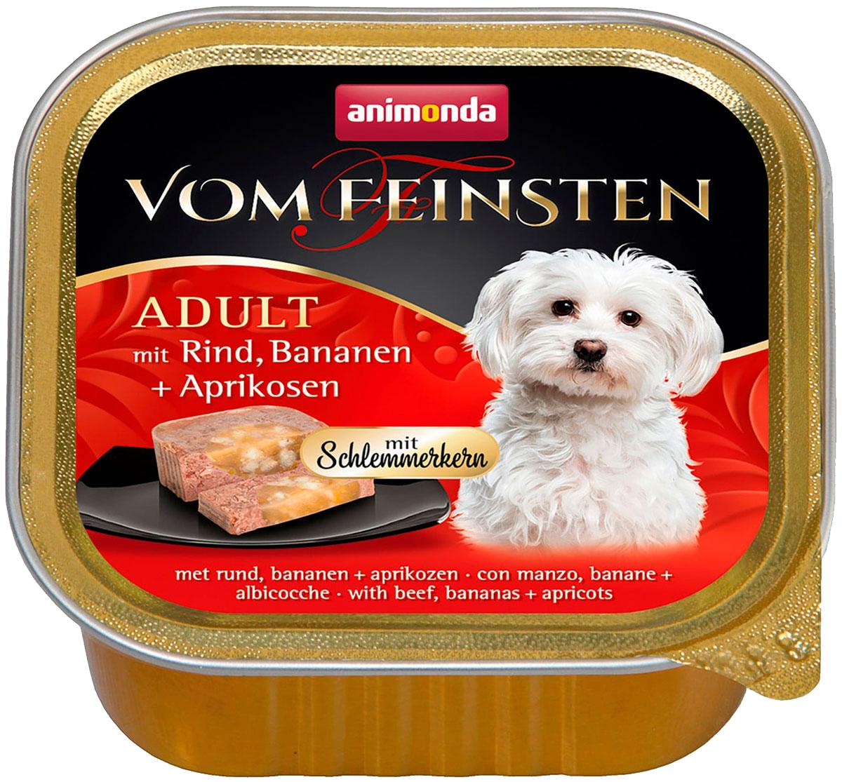 Animonda Vom Feinsten Adult Mit Rind, Bananen & Aprikosen для привередливых взрослых собак меню для гурманов с говядиной, бананом и абрикосами 150 гр (150 гр)