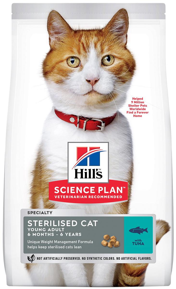 Hill's Science Plan Young Adult Sterilised Cat Tuna для взрослых кастрированных котов и стерилизованных кошек с тунцом (10 кг) hill's science plan young adult sterilised cat salmon для взрослых кастрированных котов и стерилизованных кошек с лососем в соусе 85 гр