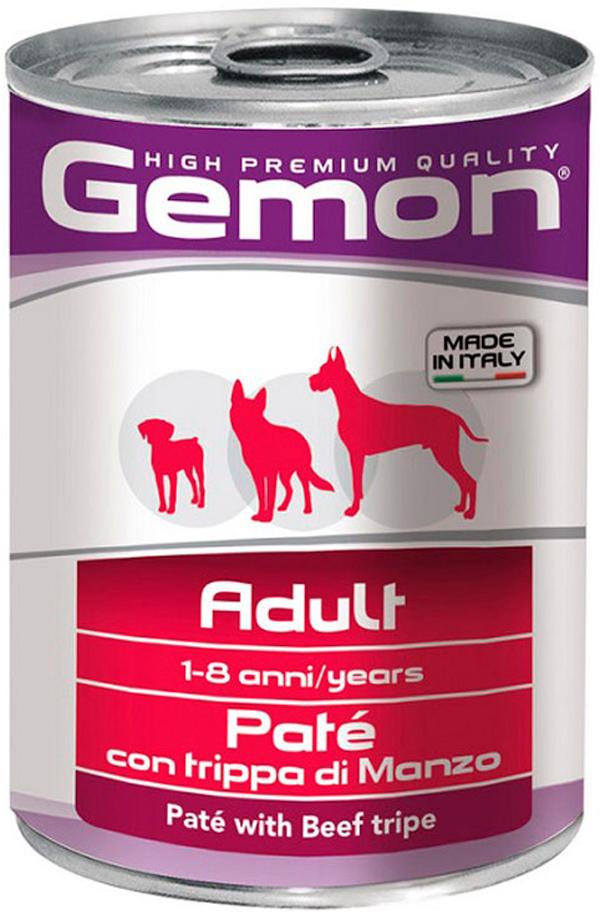 Gemon Dog Adult для взрослых собак всех пород паштет с говяжьим рубцом 400 гр (400 гр) фото
