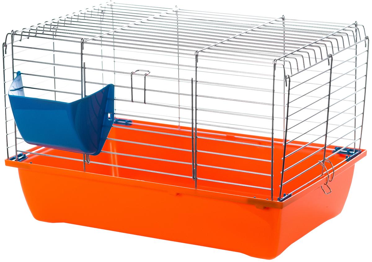 Клетка для грызунов Inter-Zoo G074 Krolik 50 с оцинкованной решеткой складная 58 х 38 х 30 см (1 шт) фото