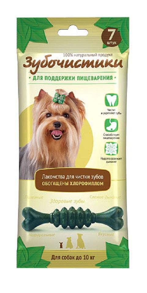 Лакомство зубочистики для собак маленьких пород для зубов с хлорофиллом (7 шт)