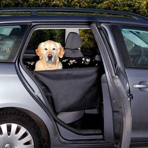 Trixie автомобильная подстилка на сиденье для собак с боковыми стенками, черно-бежевый, 65 х 145 см (1 шт)