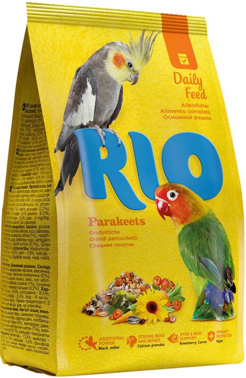 Rio Parakeets – Рио корм для средних попугаев (500 гр) rio корм daily feed для крупных попугаев 500 г