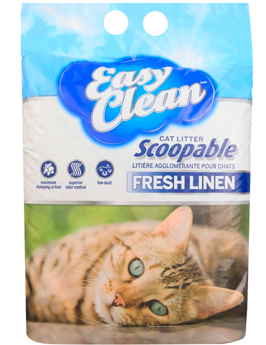 Easy Clean Fresh Linen наполнитель комкующийся для туалета кошек с ароматом луговых трав (9,07 + 9,07 кг)