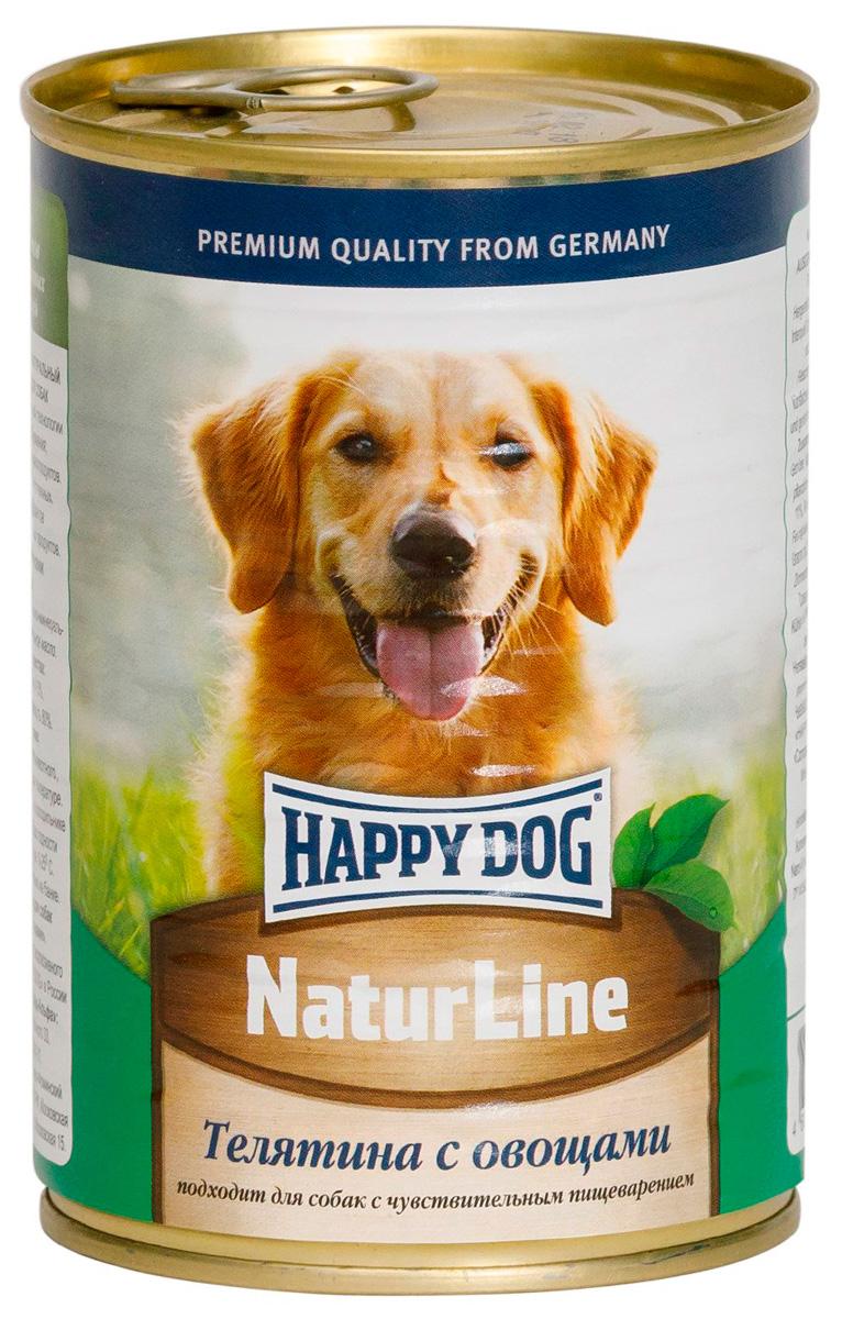 Happy Dog для взрослых собак с телятиной и овощами (410 гр х 20 шт)