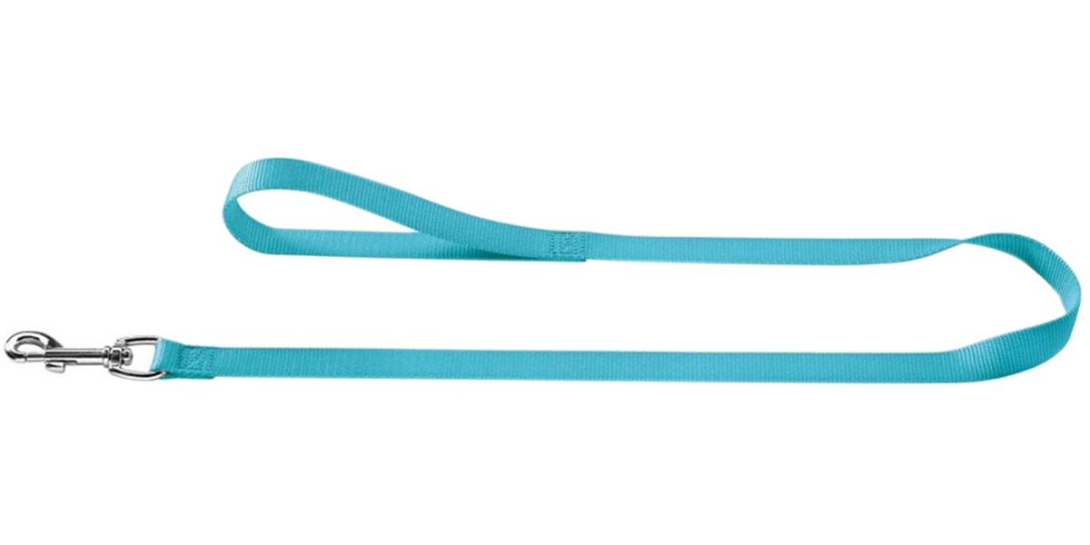 Поводок для собак Hunter Smart Ecco нейлон бирюзовый 10 мм 110 см (1 шт).
