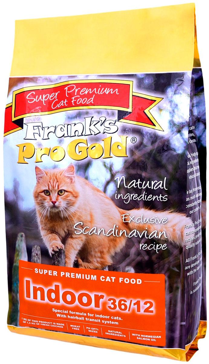 Frank's Progold Cat Indoor для взрослых кошек живущих дома с курицей (3 кг)