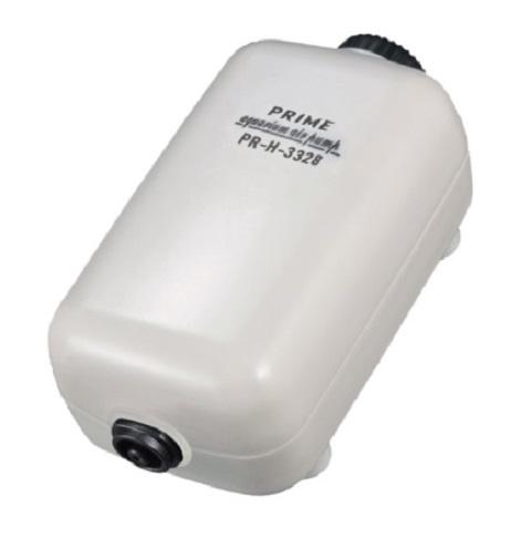 Компрессор Prime Pr-h-3328 регулируемый, 2 Вт, 2 л/мин, для аквариумов глубиной до 50 см, бесшумный (1 шт)