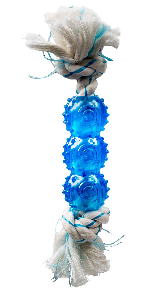 Игрушка для собак Aromadog CanineClean канат с резиновой палочкой и ароматом мяты 25 см (1 шт)