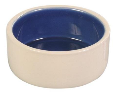 Trixie керамическая миска для собак, с синим дном (0,35 л)