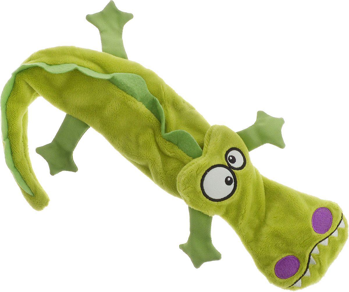 Игрушка для собак GiGwi Крокодил с 4-мя пищалками без набивки 38 см (1 шт)
