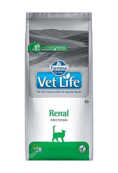 Фото #1: Farmina Vet Life Feline Renal для взрослых кошек при почечной недостаточности (5 кг)