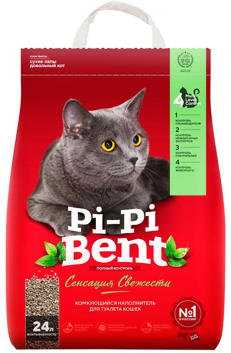 Pi-pi Bent сенсация свежести – Пи-Пи-Бент наполнитель комкующийся для туалета кошек с ароматом трав и цветов (5 кг) фото