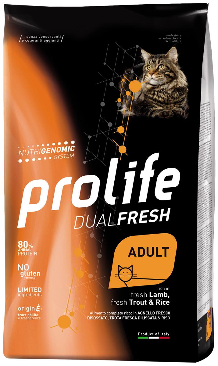 Prolife Adult Dual Fresh Lamb, Trout & Rice для взрослых кошек с ягненком, форелью и рисом (1,5 кг) фото